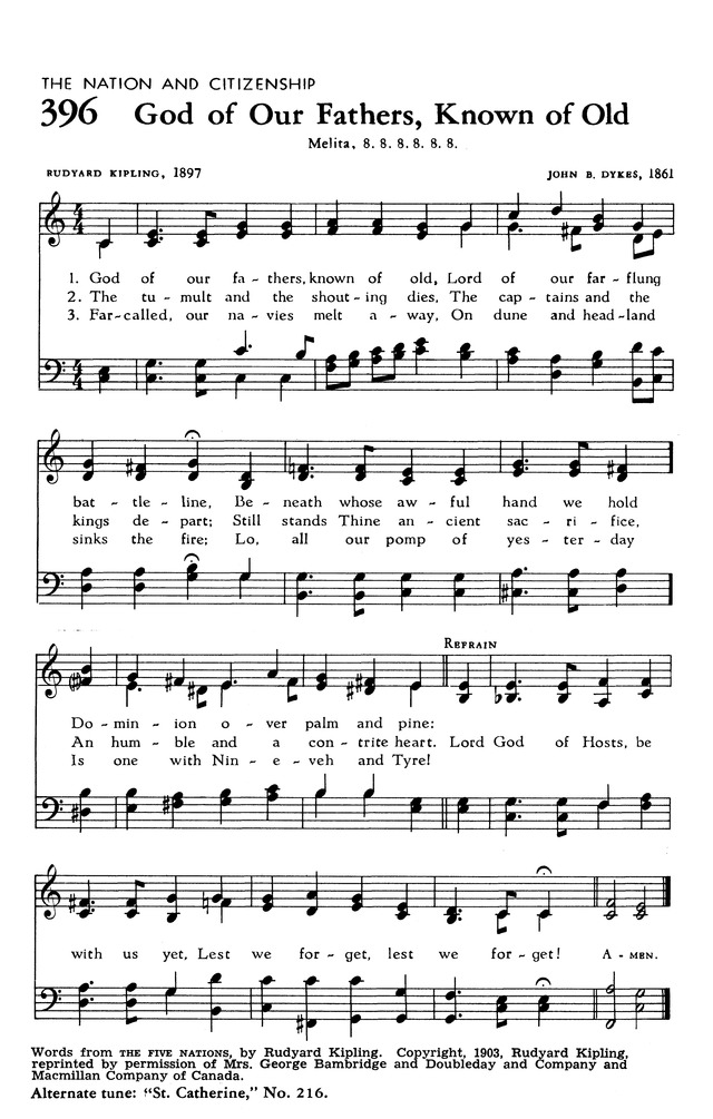 The hymnal of the evangelical united brethren church 396 god of our god of our fathers known of old altavistaventures Gallery