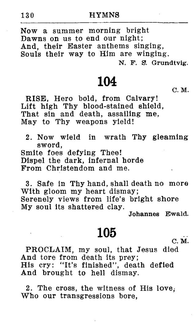 Hymnal for Church and Home (2nd ed.) page 130