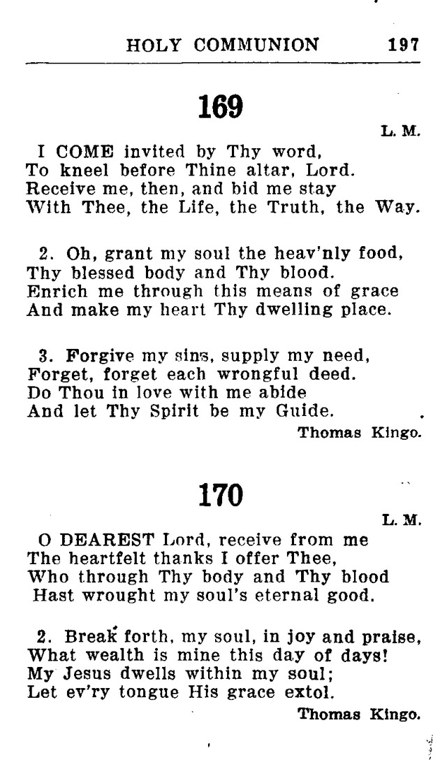 Hymnal for Church and Home (2nd ed.) page 197