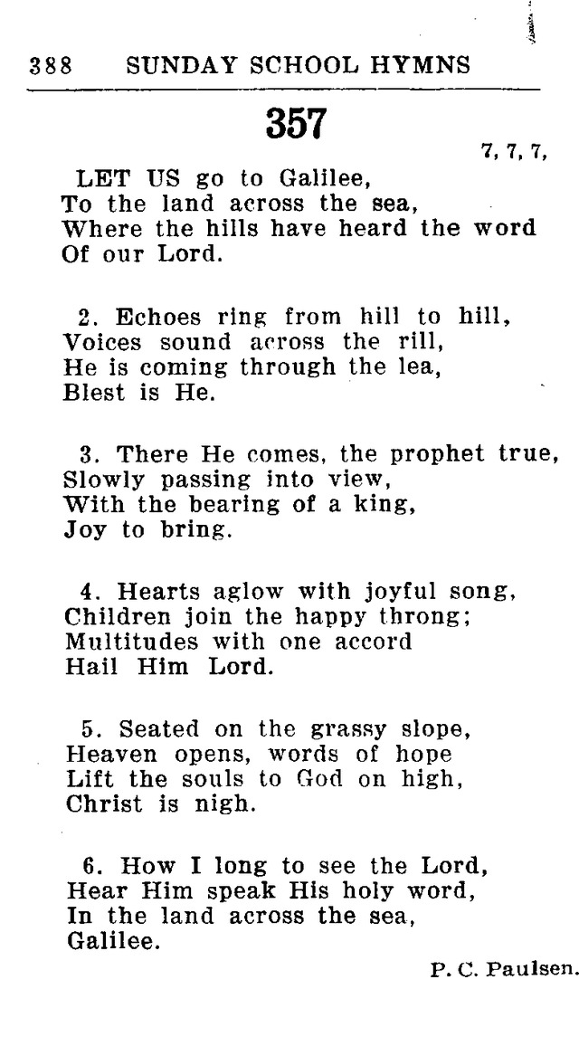 Hymnal for Church and Home (2nd ed.) page 388