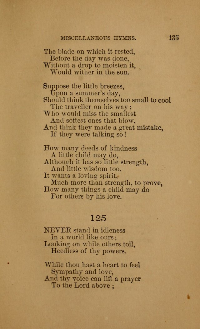 Hymns for First-Day Schools (Rev. and Enl.) page 135