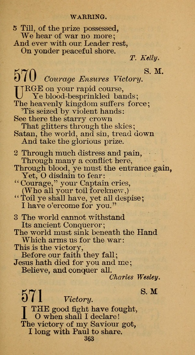The Hymn Book of the Free Methodist Church page 365