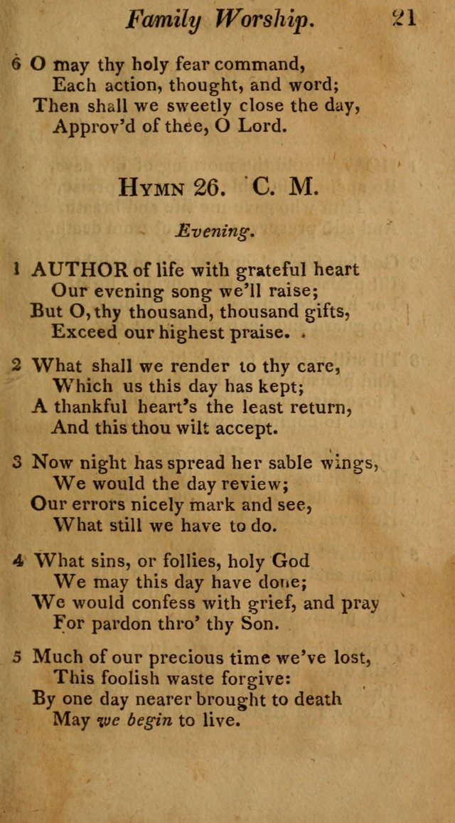 Hymns for Family Worship with Prayers for Every Day in the Week, Selected  from Various Authors page 22