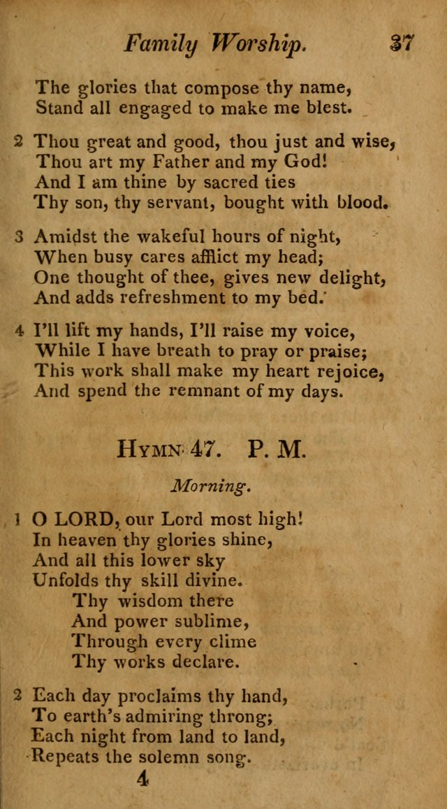 Hymns for Family Worship with Prayers for Every Day in the Week, Selected  from Various Authors page 38