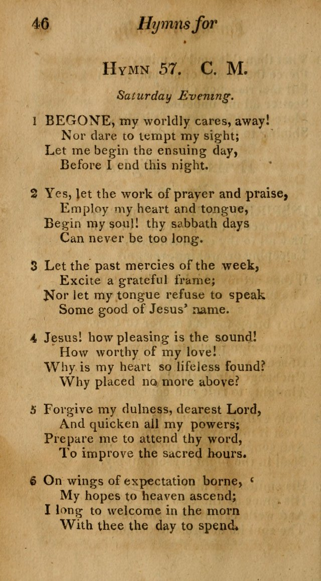 Hymns for Family Worship with Prayers for Every Day in the Week, Selected  from Various Authors page 47