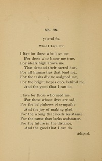 I live for those who love me | Hymnary org