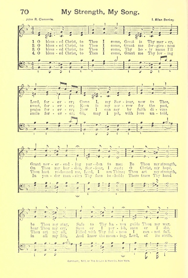 Blessed christ to thee i come hymnary org