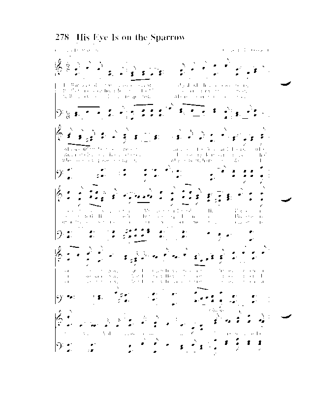 All Music Chords his eye is on the sparrow music sheet : Hymns of Faith 278. Why should I feel discouraged | Hymnary.org