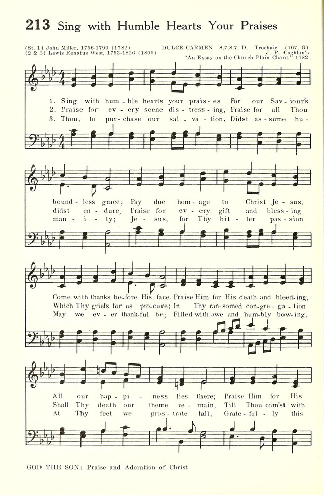Hymnal and Liturgies of the Moravian Church 213  Sing with