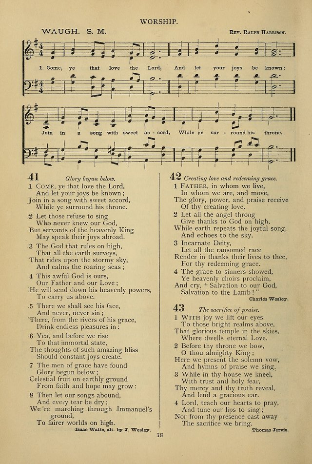 Hymnal of the Methodist Episcopal Church page 15