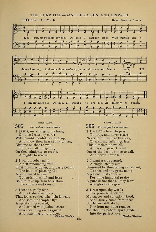 Hymnal of the Methodist Episcopal Church page 184