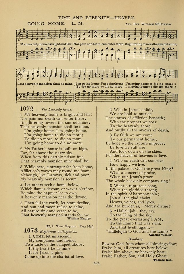 Hymnal of the Methodist Episcopal Church page 401