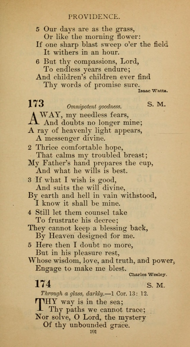 Hymnal of the Methodist Episcopal Church page 101