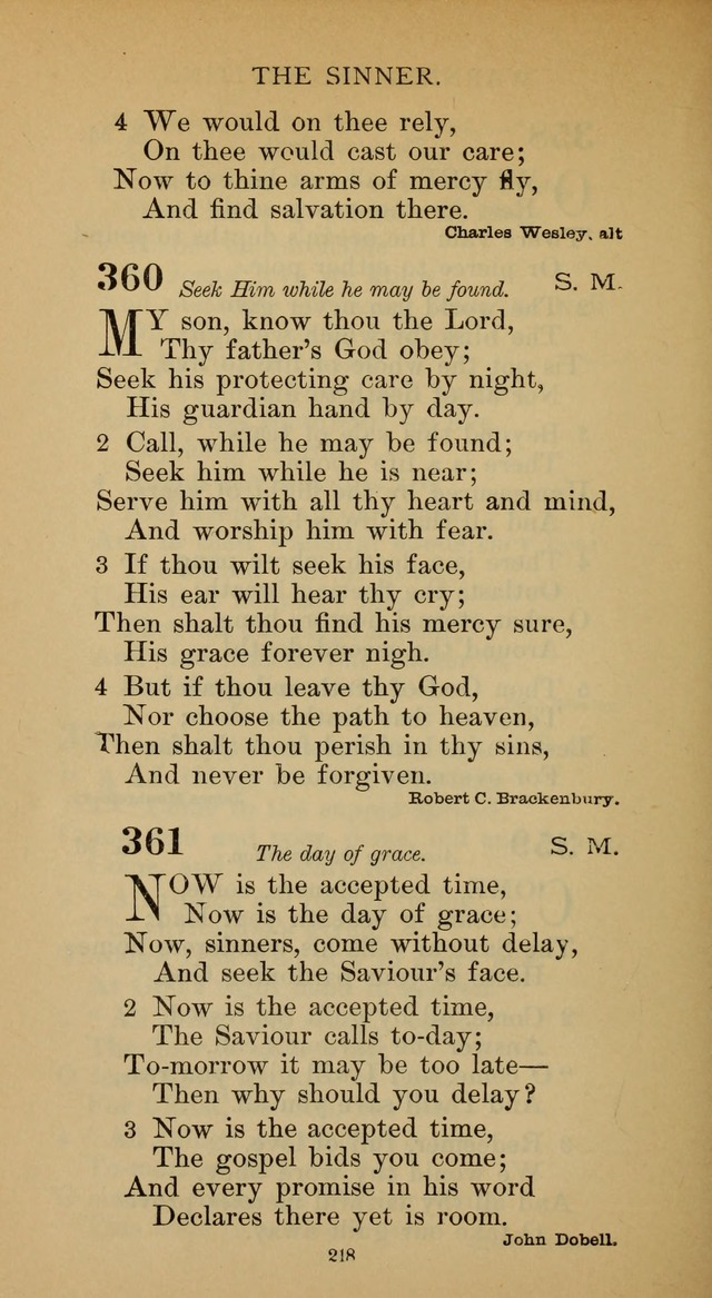 Hymnal of the Methodist Episcopal Church page 218