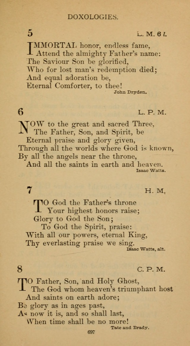 Hymnal of the Methodist Episcopal Church page 697
