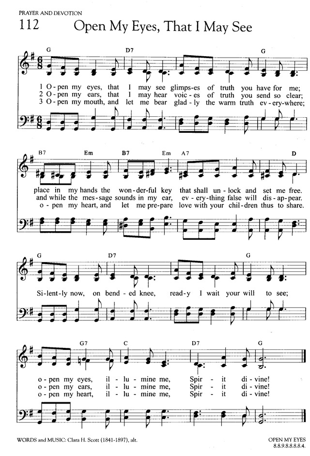 Lyric open our eyes lord lyrics : Open My Eyes, That I May See | Hymnary.org
