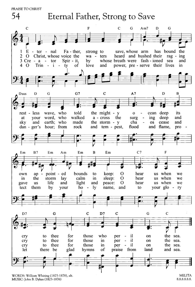 Lyric marine corps hymn lyrics : Eternal Father! strong to save | Hymnary.org