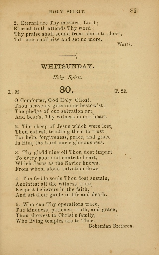 Hymns and Offices of Worship: for use in schools: with an appendix of tunes page 81