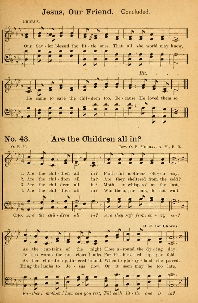 Honey Out of the Rock: a compilation of sacred songs and hymns for use in gospel meetings and other religious services page 50