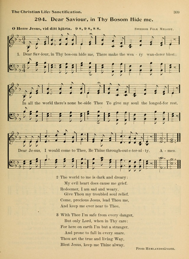 Hymnal and Order of Service: for churches and Sunday-schools page 309