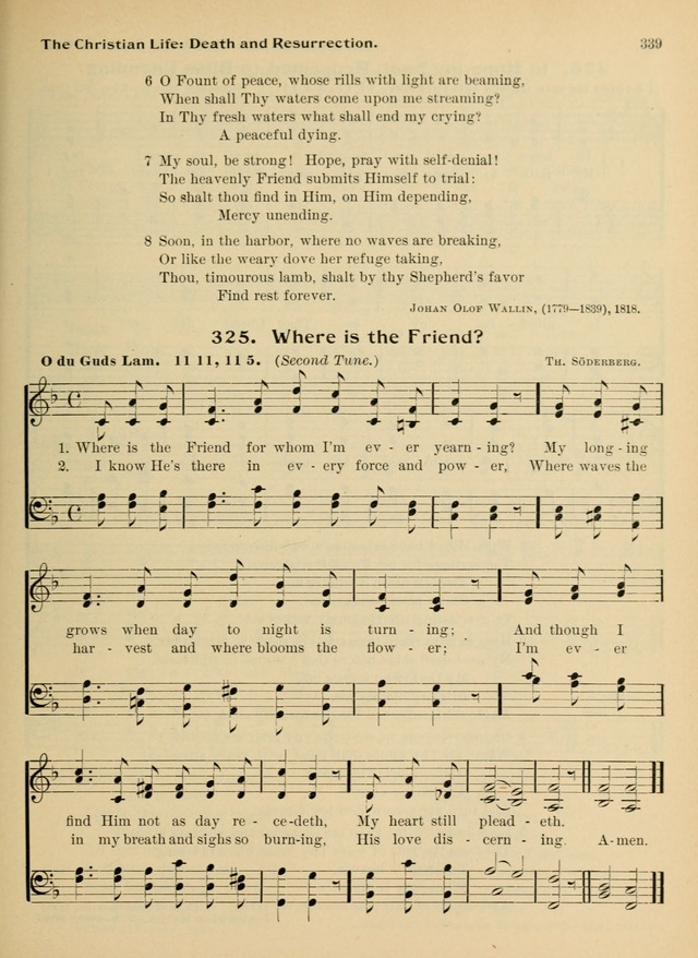 Hymnal and Order of Service: for churches and Sunday-schools page 339