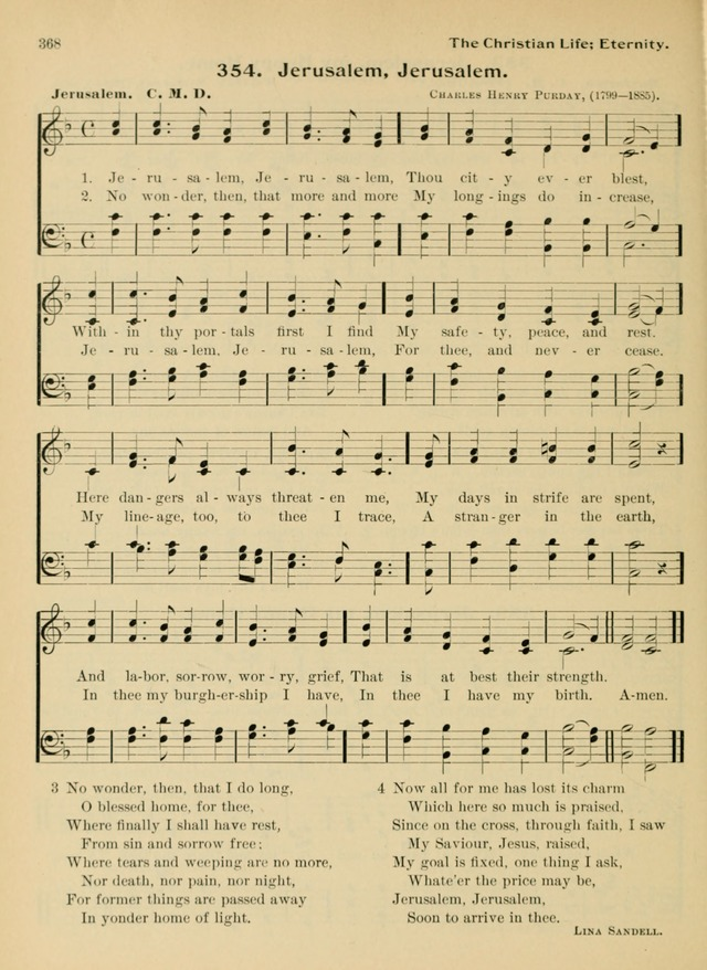 Hymnal and Order of Service: for churches and Sunday-schools page 368