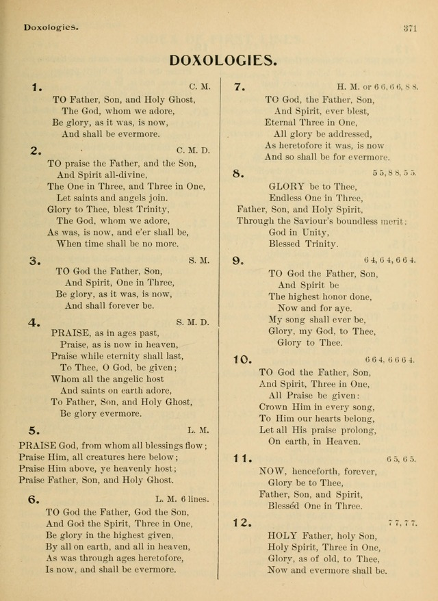 Hymnal and Order of Service: for churches and Sunday-schools page 371