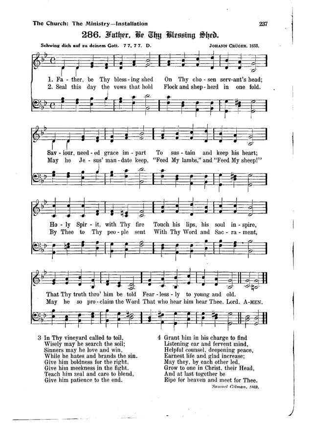The Hymnal and Order of Service page 237
