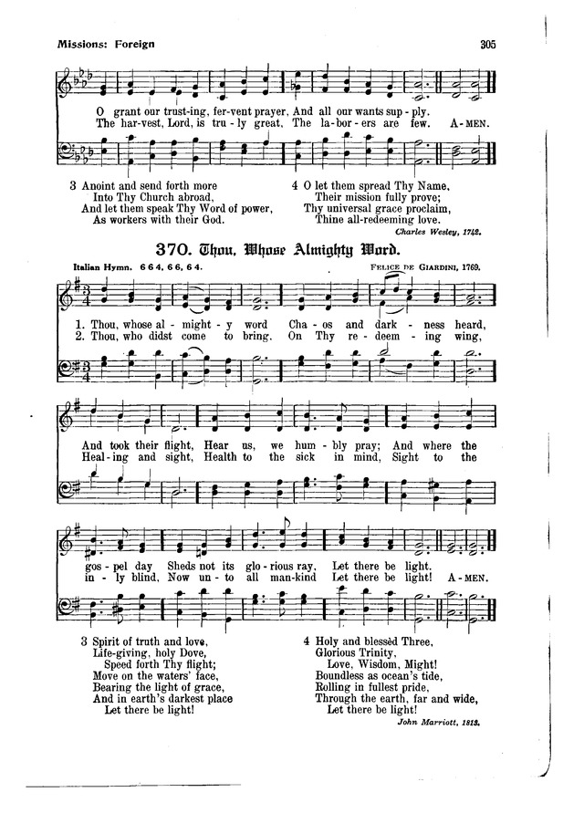 The Hymnal and Order of Service page 305