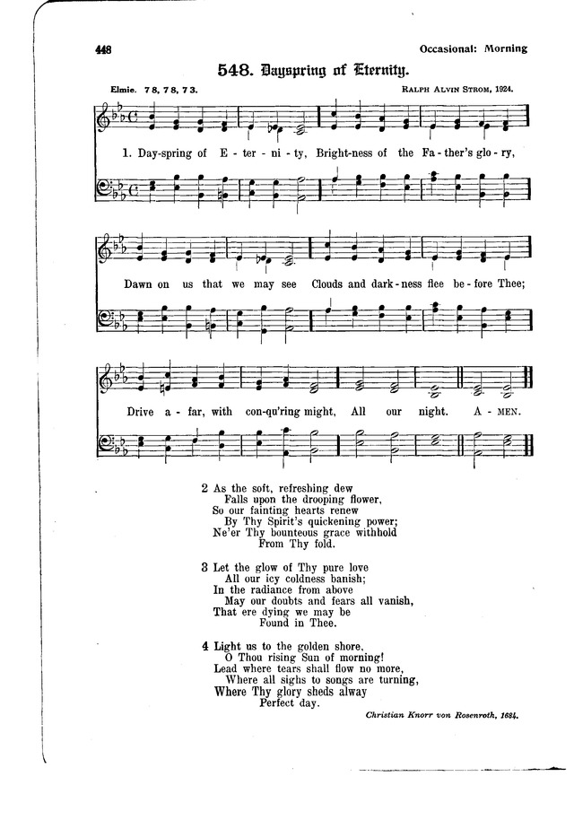 The Hymnal and Order of Service page 448