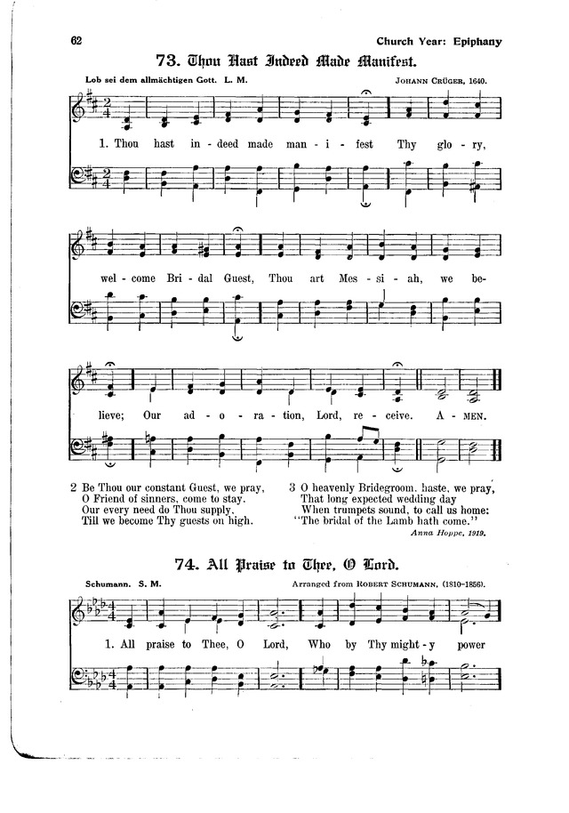 The Hymnal and Order of Service page 62