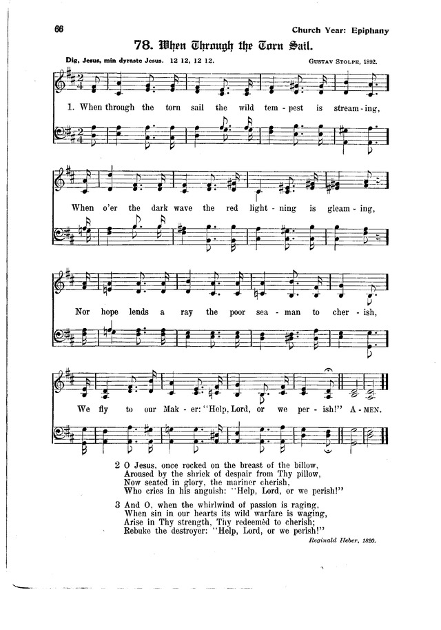 The Hymnal and Order of Service page 66