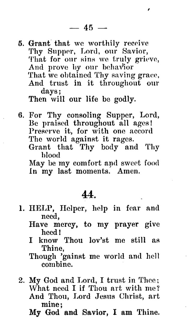 Hymnal and Prayer Book: compiled by the Lutheran Church Board for Army and  Navy of the Ev. Lutheran Synod of Missouri, Ohio, and other states, and of the joint Ev. Lutheran Synod of...(3rd. ed.) page 39