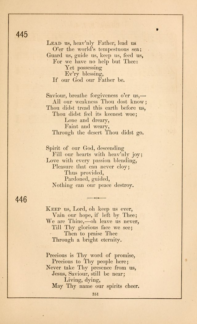 Hymnal of the Presbyterian Church page 349