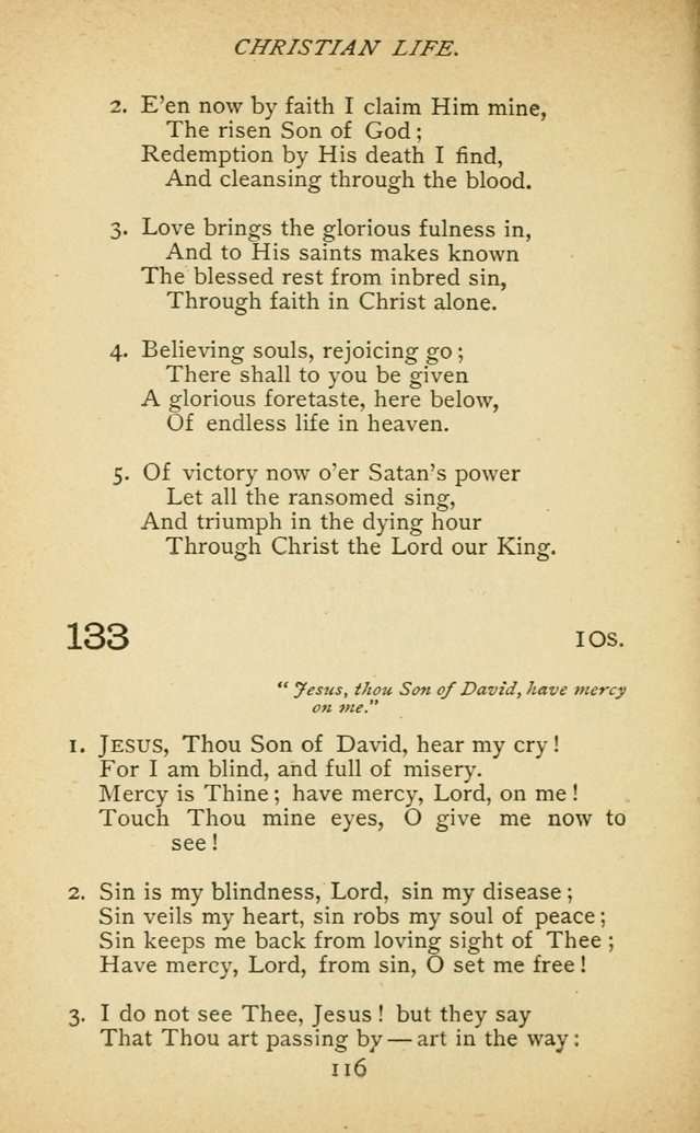 Hymnal of the Presbyterian Church in Canada page 116