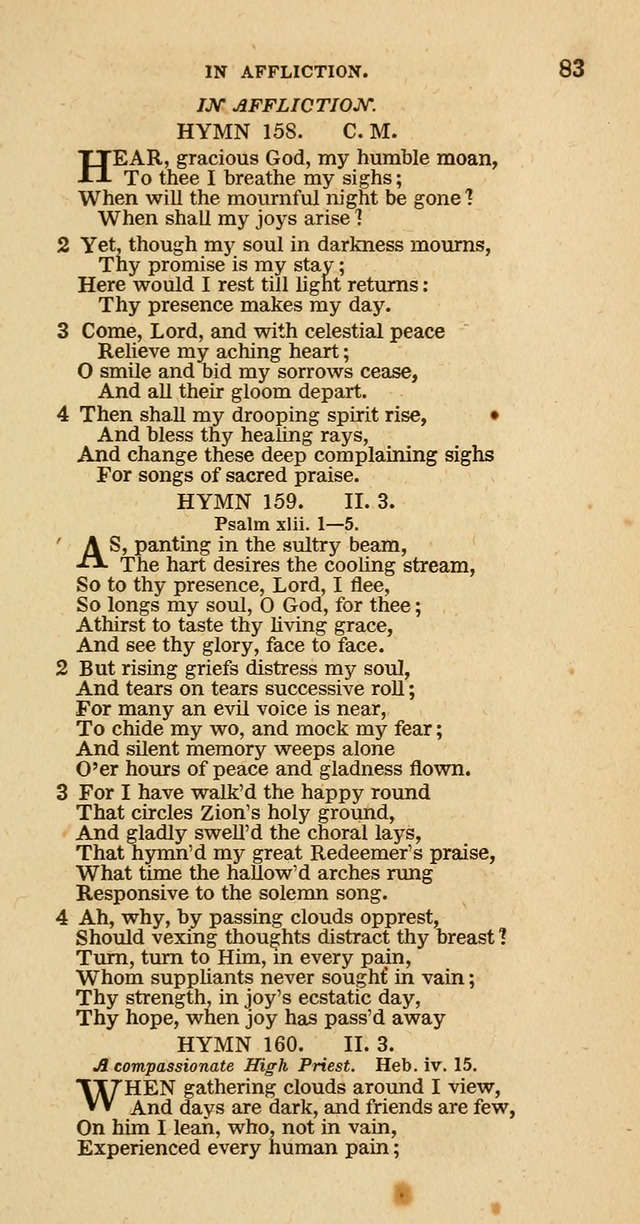Hymns of the Protestant Episcopal Church of the United States, as authorized by the General Convention: with an additional selection page 83