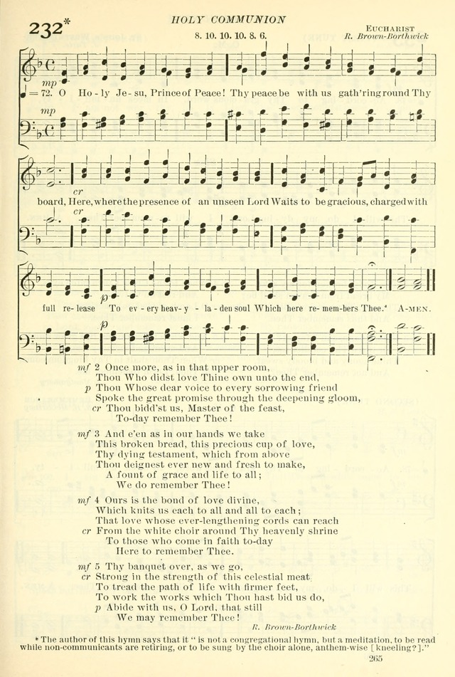 The Church Hymnal: revised and enlarged in accordance with the action of the General Convention of the Protestant Episcopal Church in the United States of America in the year of our Lord 1892. (Ed. B) page 313