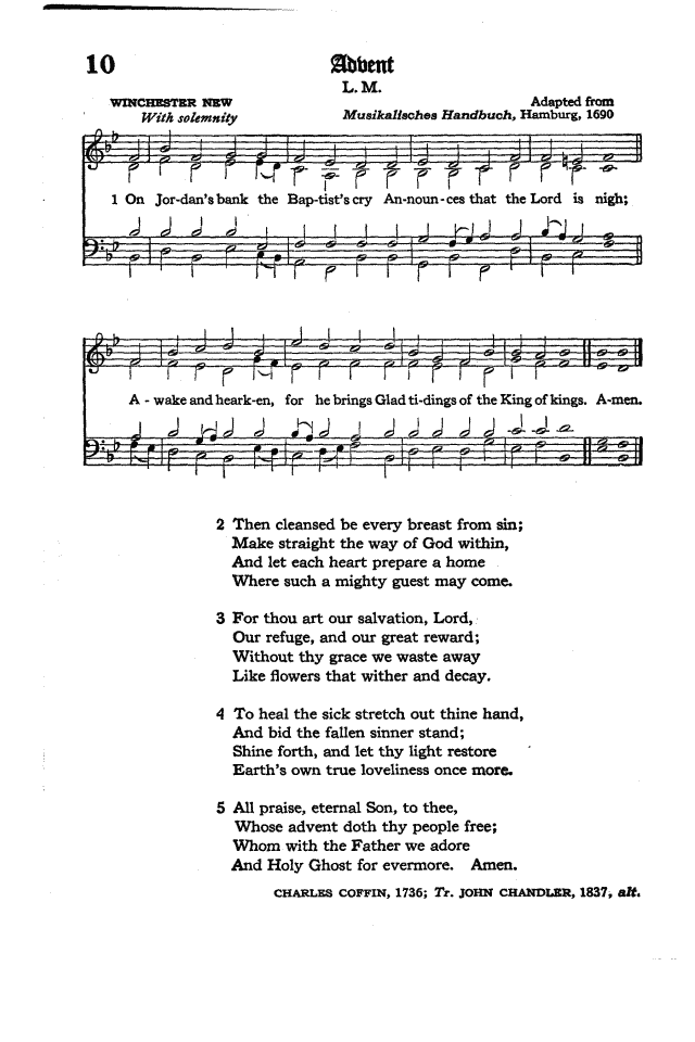 The Hymnal of the Protestant Episcopal Church in the United States of America 1940 page 14
