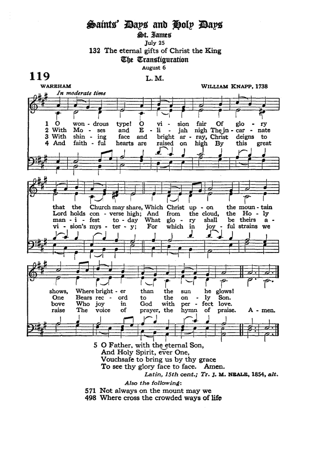 The Hymnal of the Protestant Episcopal Church in the United States of America 1940 page 158