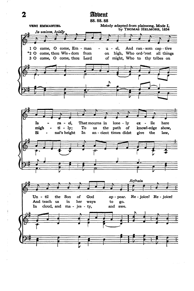 The Hymnal of the Protestant Episcopal Church in the United States of America 1940 page 2