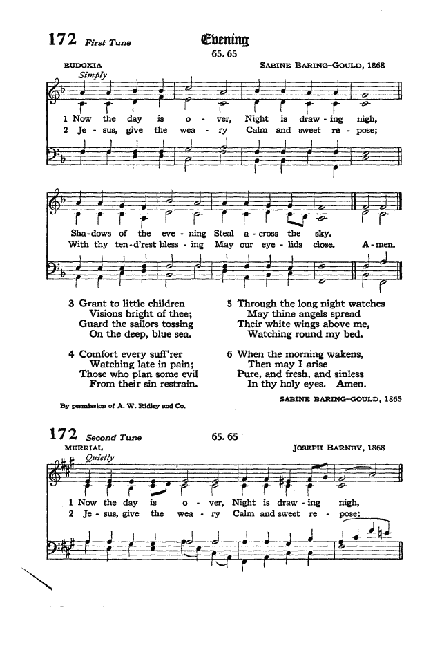 The Hymnal of the Protestant Episcopal Church in the United States of America 1940 page 222
