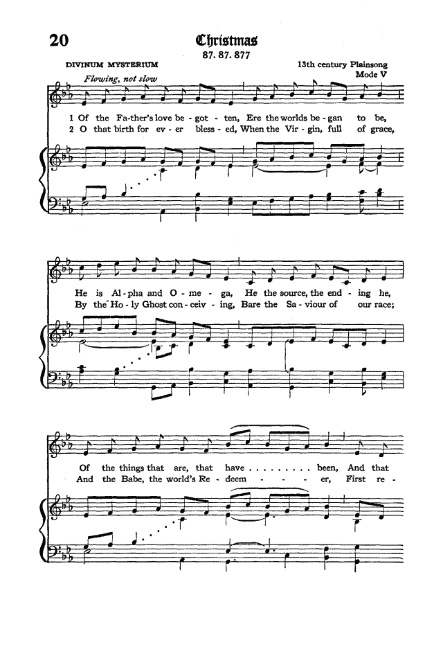 The Hymnal of the Protestant Episcopal Church in the United States of America 1940 page 28