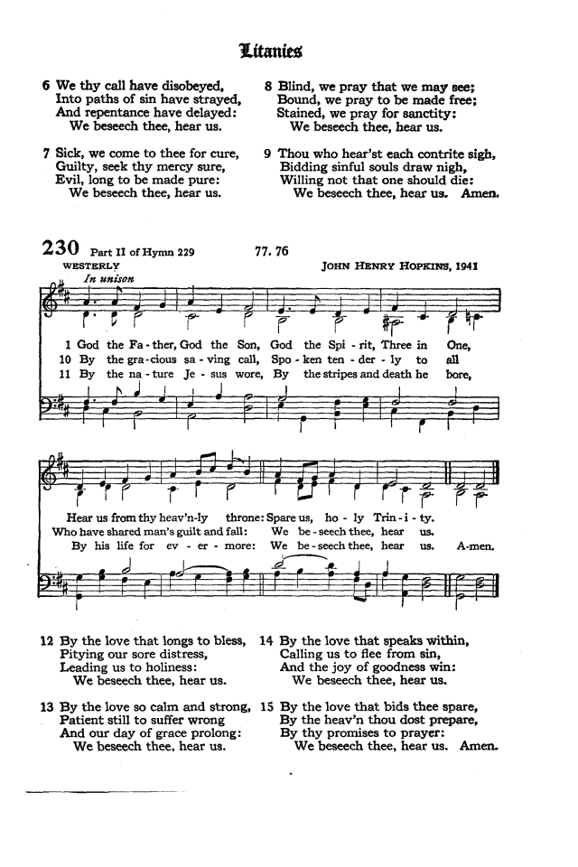 The Hymnal of the Protestant Episcopal Church in the United States of America 1940 page 291