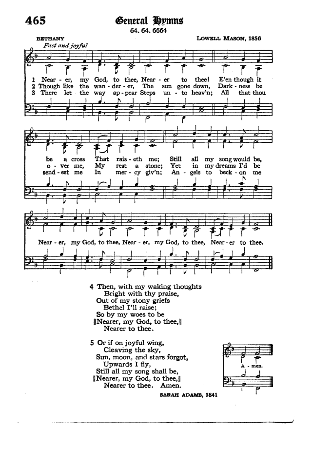 Lyric nearer my god to thee lyrics : The Hymnal of the Protestant Episcopal Church in the United States ...