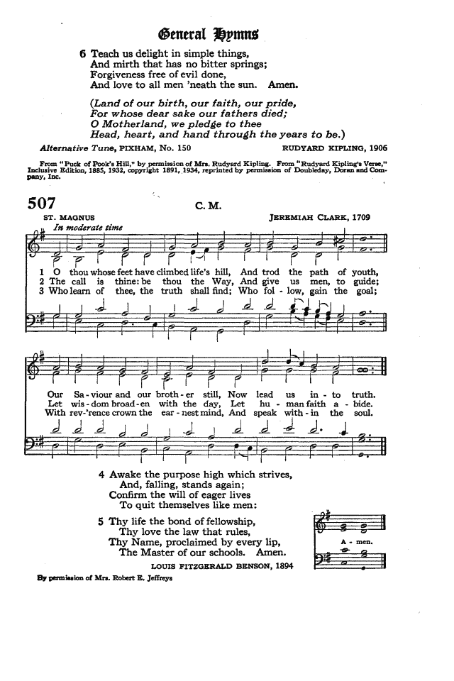 The Hymnal of the Protestant Episcopal Church in the United States of America 1940 page 585