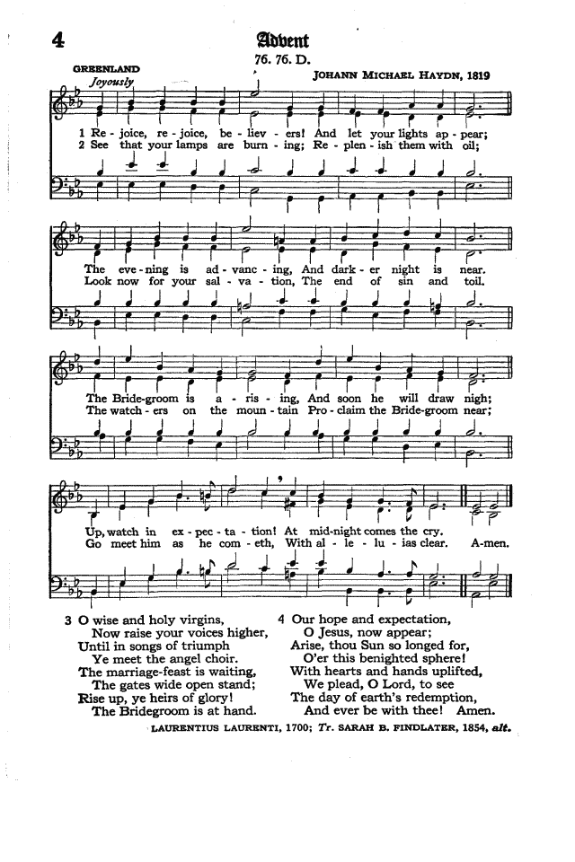 The Hymnal of the Protestant Episcopal Church in the United States of America 1940 page 6