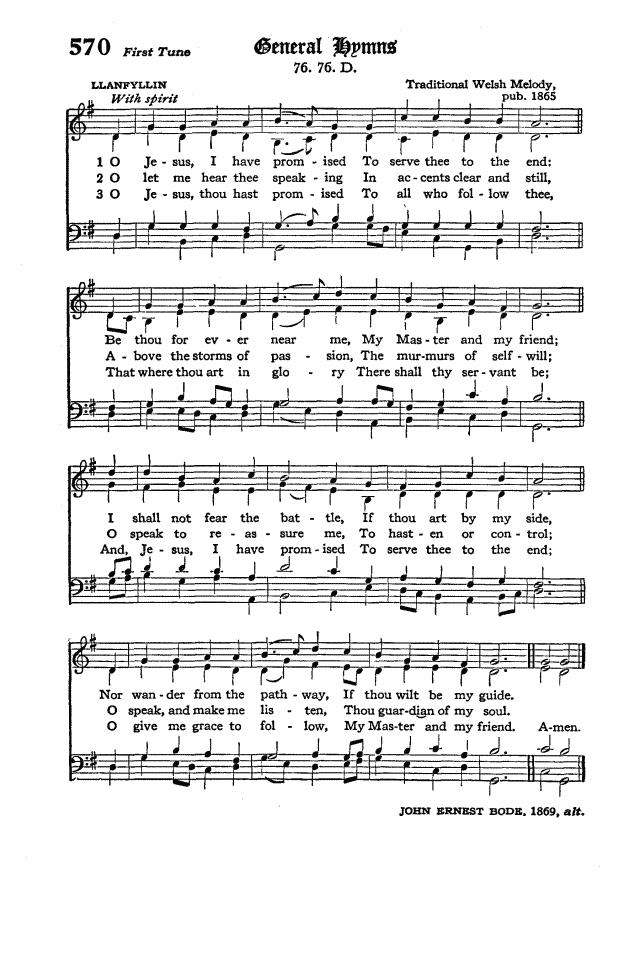 The Hymnal of the Protestant Episcopal Church in the United States of America 1940 page 652