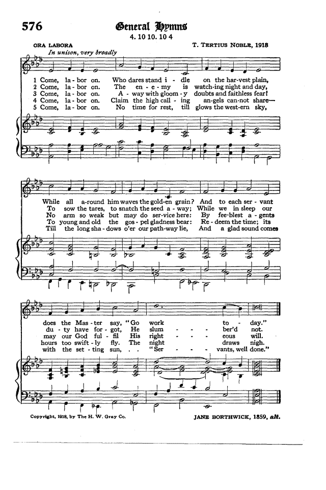 The Hymnal of the Protestant Episcopal Church in the United States of America 1940 page 661