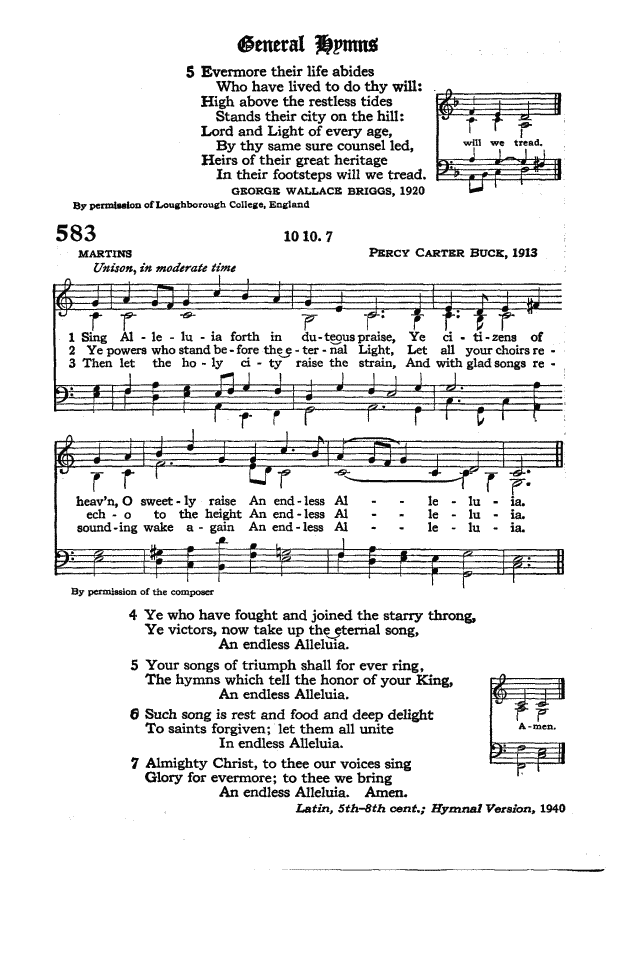 The Hymnal of the Protestant Episcopal Church in the United States of America 1940 page 669