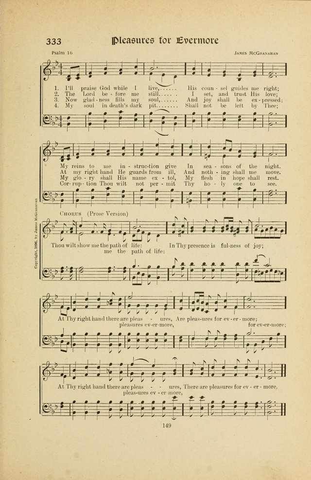 Hymns, Psalms and Gospel Songs: with responsive readings page 149
